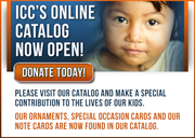 An graphic announcing ICC's new online catalog
