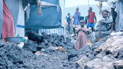 Photo of refugees in a camp near the city of Goma in the DR Congo