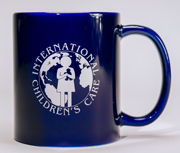 A photo of one on the mugs with the ICC logo available from ICC's online store