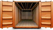 An illustration of an empty shipping container