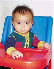 An photo of a child