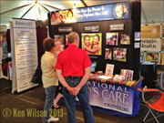 Photo of of ICC booth at the 2013 Oregon conference campmeeting in Gladstone, OR.