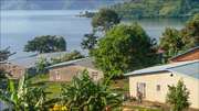 photo of the Patmos Children's Village with Lake Kivu in the background