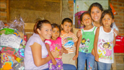 Maria and some of the children who recieived gifts