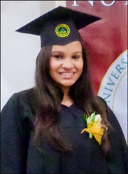 A photo of Anita at her graduation
