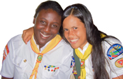 A photo two members of the Las Palmas Pathfinders club