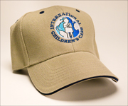 A photo of an ICC-branded ball cap embroidered with the ICC logo
